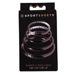 Sportsheets - O-Rings Set van 4 Cockringen Mannen Speeltjes