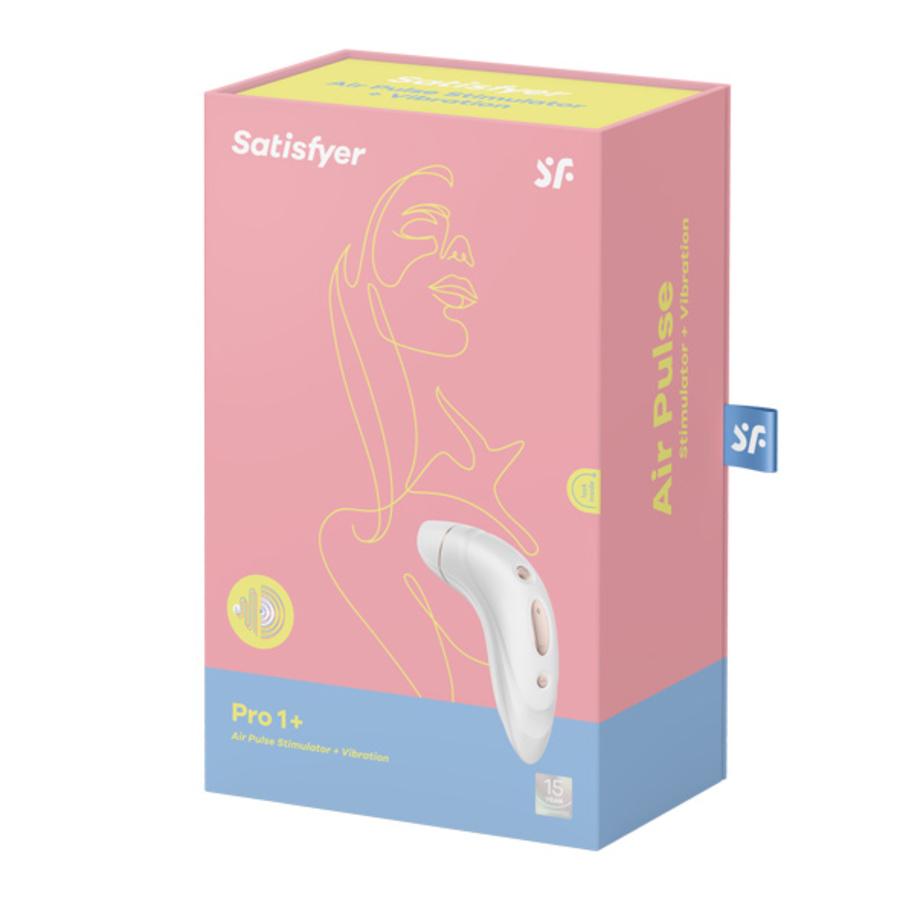 Satisfyer - Pro 1+ Air Pulse Stimulator met Vibraties Vrouwen Speeltjes
