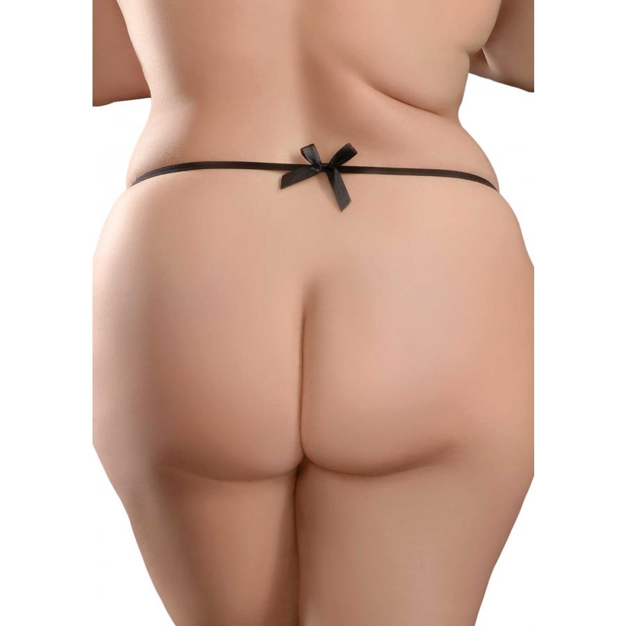 Pipedream - Hookup Panties Bowtie Bikini String met vibrerende buttplug  Anale Speeltjes